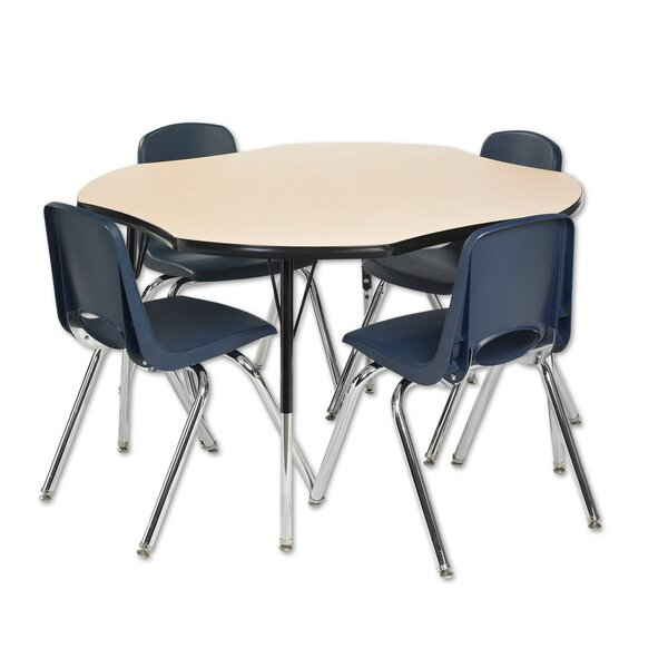 5 Piece Novelty Activity Table & 18 Chair Set by ECR4kids