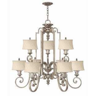 Kingsley 9-Light Shaded Chandelier By Fredrick Ramond
