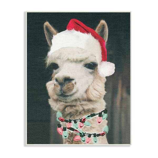 Christmas Llama Graphic Art Print By The Holiday Aisle.