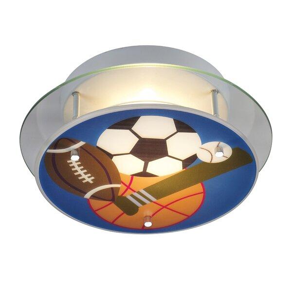 Brennan Sports Theme Semi Flush Mount by Zoomie Kids