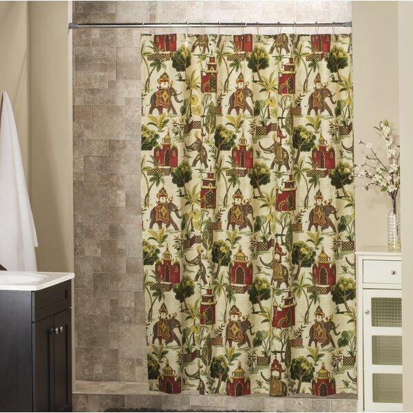 Postel Cotton Shower Curtain by Bloomsbury Market