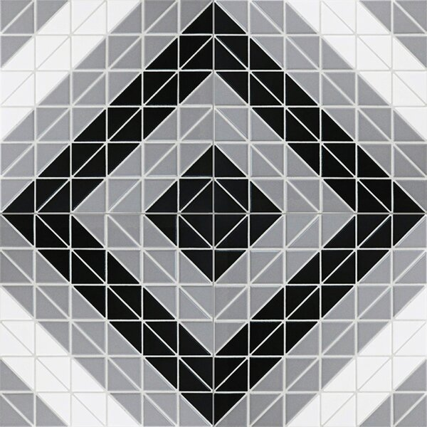Trian Square Twist 1 x 2 Porcelain Mosaic Tile