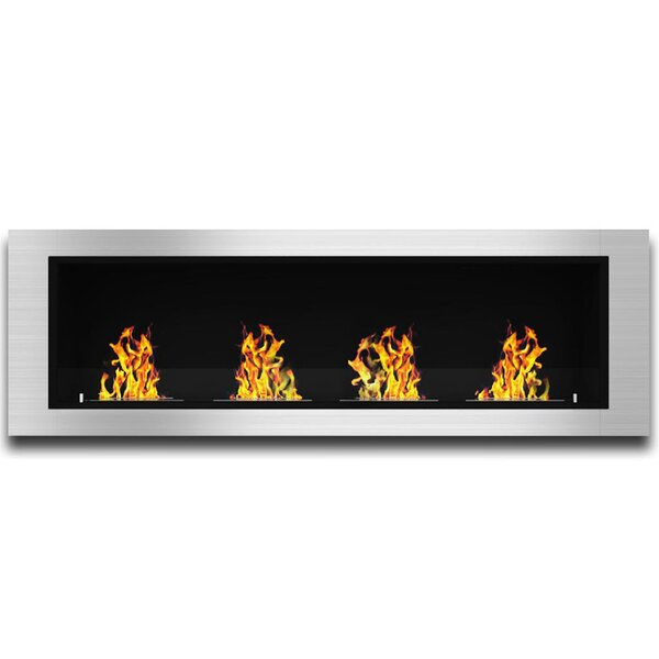 Kelly Ventless Recessed Wall Mounted Bio-Ethanol Fireplace By Latitude Run