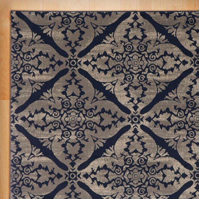 Anzell Blue Grey Area Rug