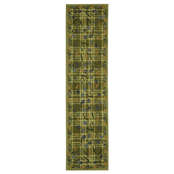 Kinchen Ivory/Sage Plaid Area Rug by August Grove
