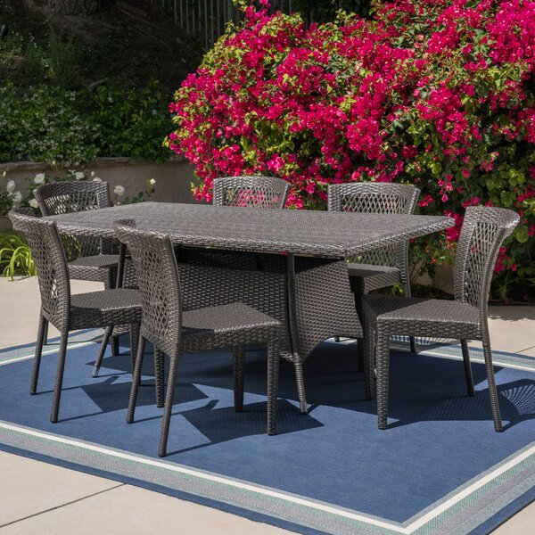 Grist Outdoor 7 Piece Dining Set by Bungalow Rose
