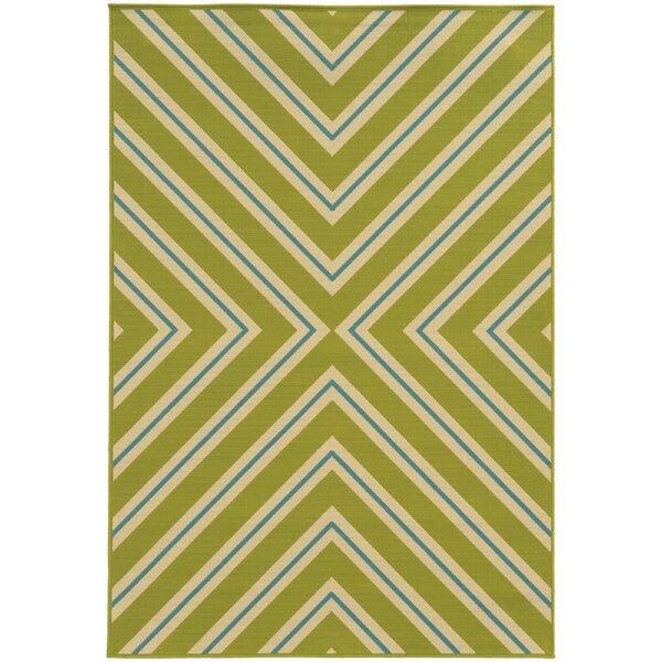 Heath Green/Ivory Indoor/Outdoor Area Rug by Ebern Designs