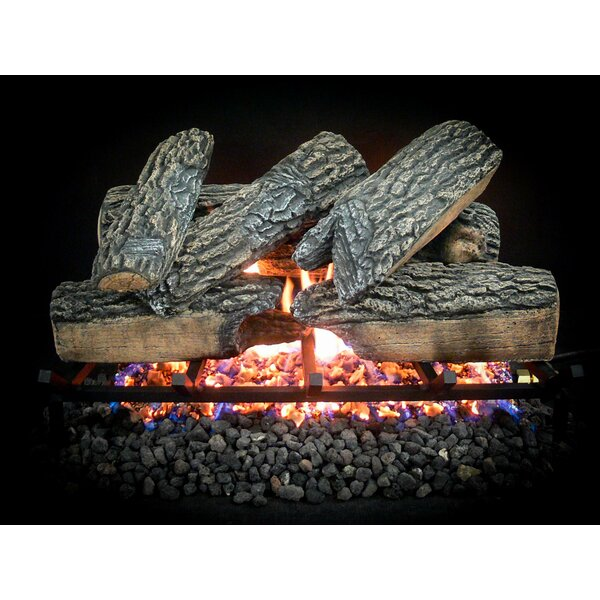 Complete Match Light Blazing Oak Natural Gas Log Kit by Dreffco