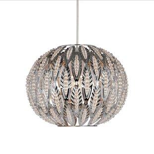 Easy fit chandelier wayfair beaded leaf design easy fit 27cm metal sphere pendant shade aloadofball Choice Image