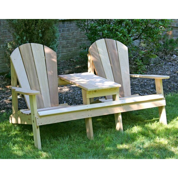 Celso Wood Adirondack Chair with Table by Rosalind Wheeler Rosalind Wheeler