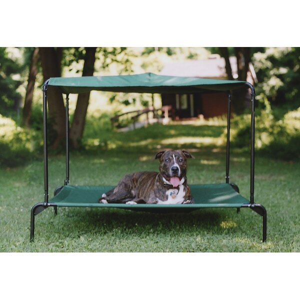 Puppywalk Indoor/Outdoor Ultra Breezy Dog Bed with Sun Shade by Kittywalk Systems