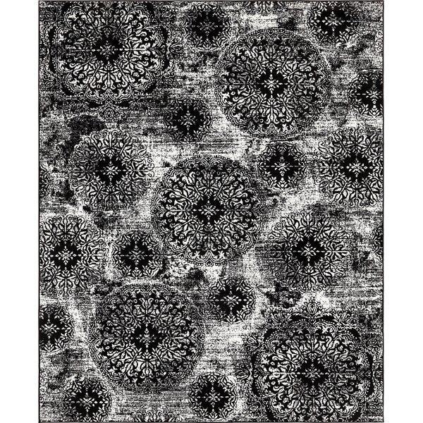 Brandt Black/White Area Rug by Mistana