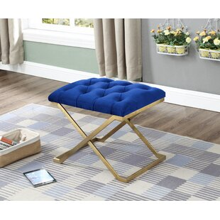 Remarkable Yingst Button Tufted Metal Bench Ibusinesslaw Wood Chair Design Ideas Ibusinesslaworg