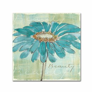 Spa Daisies Framed on Canvas by Trademark Fine Art
