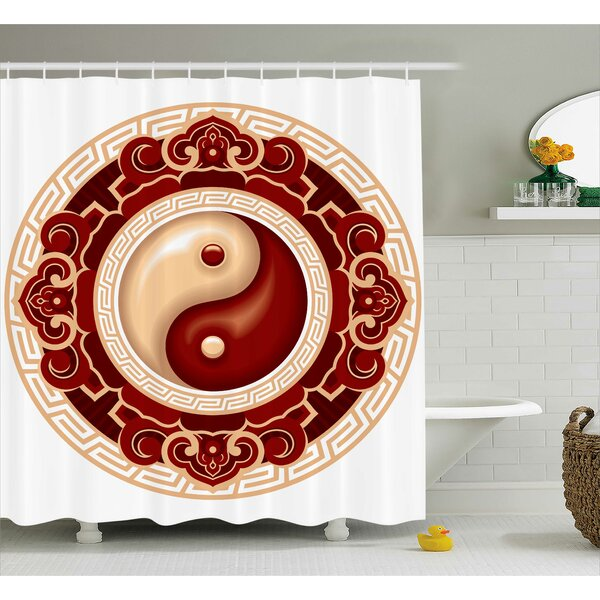 Beecher Yang Decor Asian Symbol Shower Curtain by Bloomsbury Market