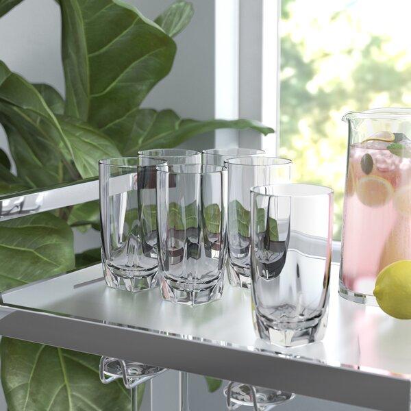Colberg Iced 26 oz. Acrylic Highball Glass (Set of 6) by Wade Logan