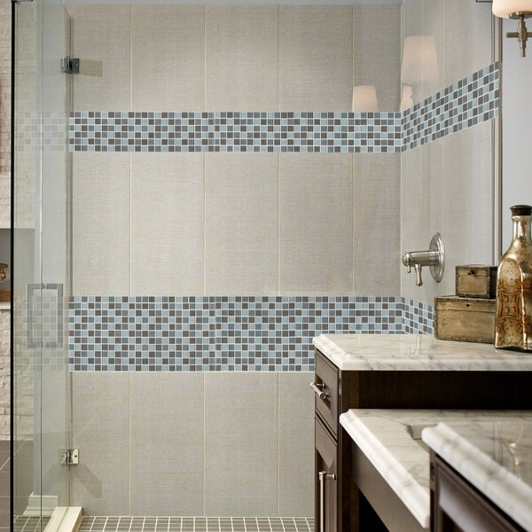 Majestic Ocean Glass Mosaic Tile in White by MSI