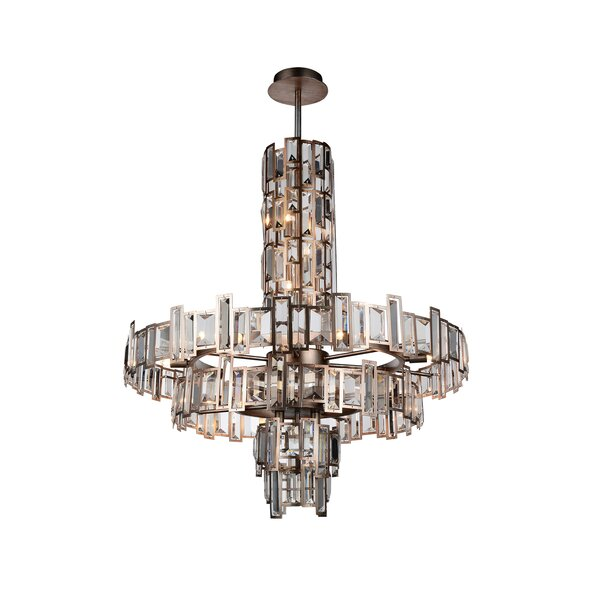 Colby 18-Light Crystal Chandelier by Rosdorf Park