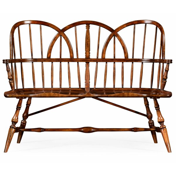 Windsor Two Seat Wood Bench by Jonathan Charles Fine Furniture