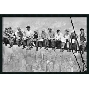 'New York Lunch Atop a Skyscraper' Framed Photographic Print by Zipcode Design