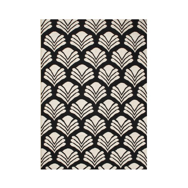 Scio Hand-Tufted Black/Cream Area Rug by The Conestoga Trading Co.