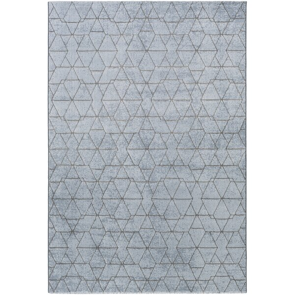 Cuthbert Modern Pale Blue/Denim Area Rug by Brayden Studio