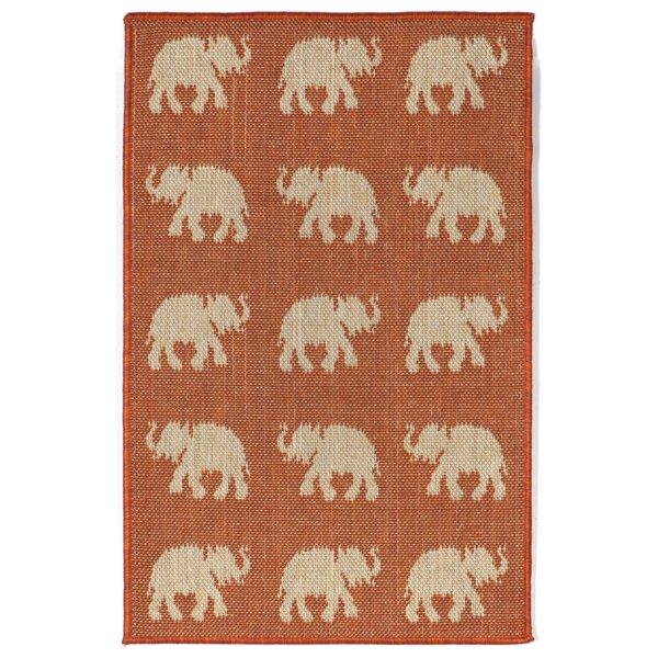 Slimane Elephants Indoor/Outdoor Rug by World Menagerie