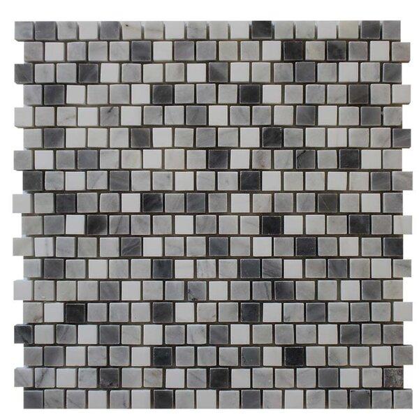 0.63 x 0.63 Mosaic Tile in Bardiglio by Ephesus Stones
