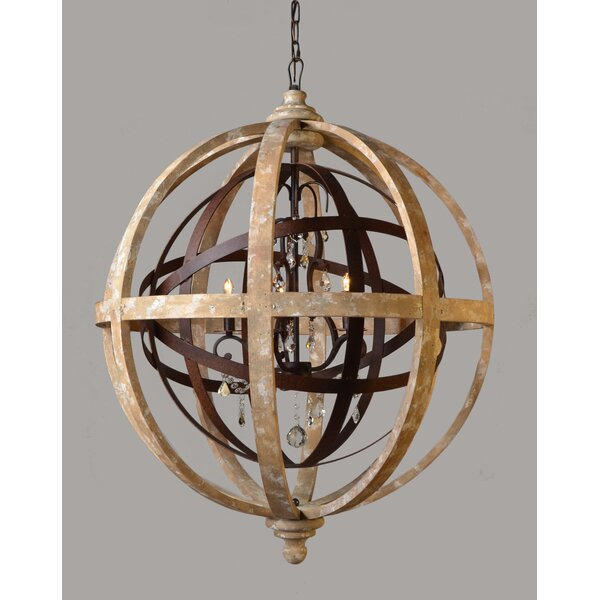 Tommen 5-Light Unique / Statement Globe Chandelier by Gracie Oaks Gracie Oaks