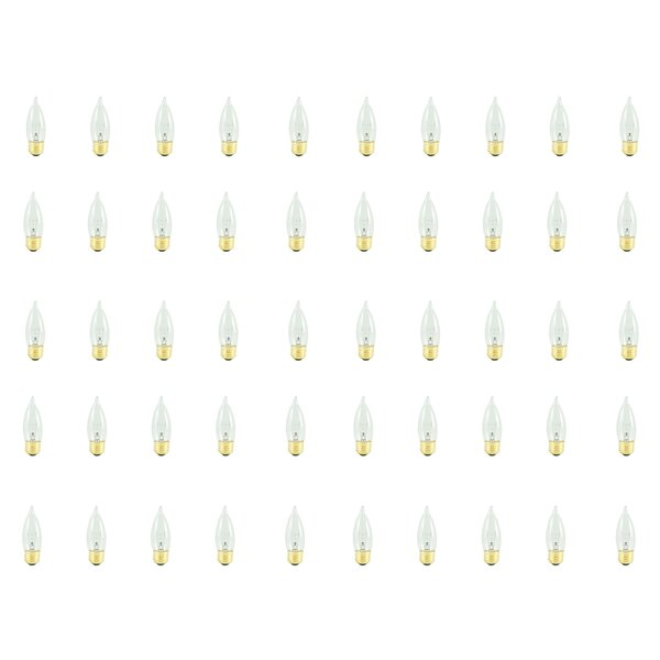 40W E26 Dimmable Incandescent Candle Light Bulb (Set of 50) by Bulbrite Industries