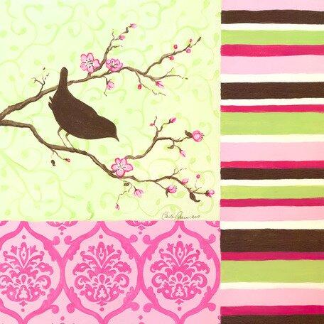 Bird on Branch Canvas Art by Oopsy Daisy