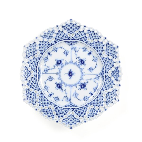Blue Fluted Full Lace 8.25 Salad Plate