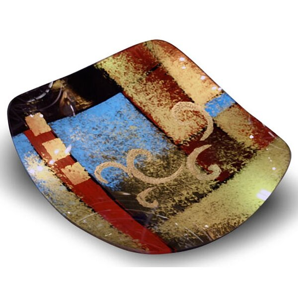 Square Platter by Jasmine Art Glass