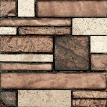 Vista 12 x 12 Glass Stone Blend Pattern Mosaic Tile in Sight by Emser Tile