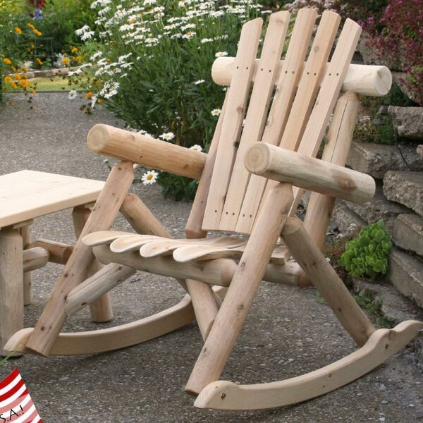 Solid Wood Rocking Adirondack Chair by Lakeland Mills