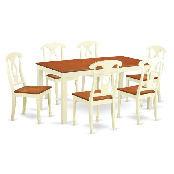Cleobury Traditional 7 Piece Wood Dining Set By August Grove