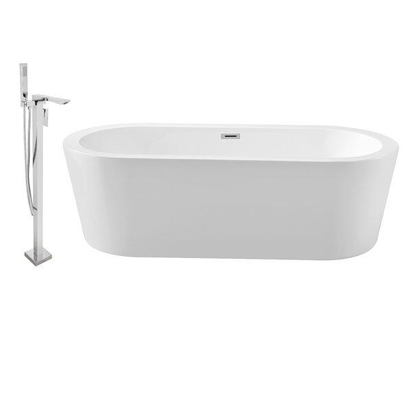 62 x 29 Freestanding Soaking Bathtub by Wildon Home ®