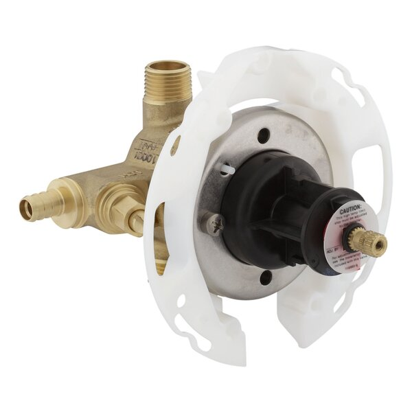 Rite-Temp 1/2 Pressure-Balancing Valve with Screwdriver Stops and Pex Crimp Connections by Kohler