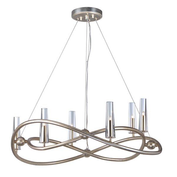 Lanigan Single Tier 6-Light Candle Style Chandelier by Mercer41