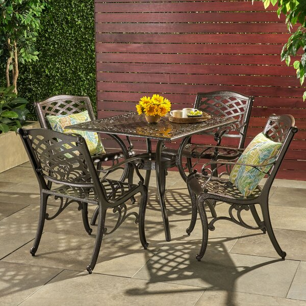 Ravenna 5 Piece Dining Set by Fleur De Lis Living