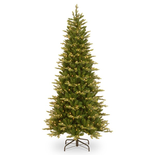 Slim PowerConnect 90 Green Spruce Artificial Christmas Tree with 600 Clear Lights and Stand by August Grove