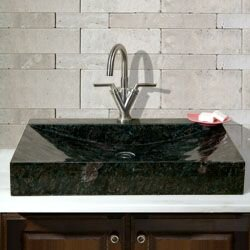 Stone Rectangular Vessel Bathroom Sink by Allstone Group