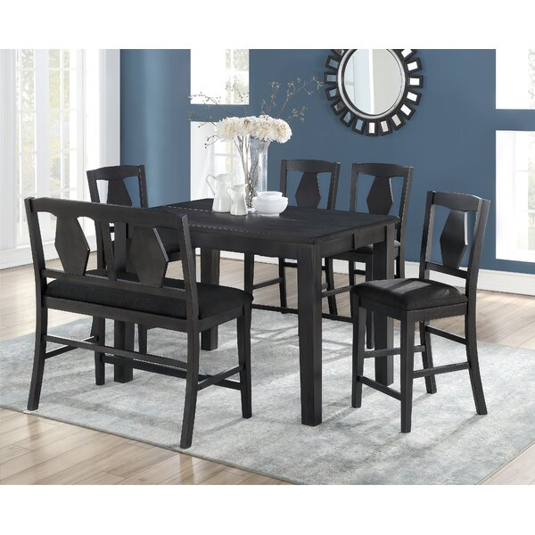 Munos 6 Piece Pub Table Set by Charlton Home