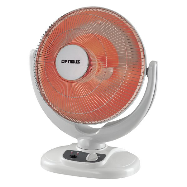 Portable Electric Radiant Compact Heater with Oscillation by Optimus