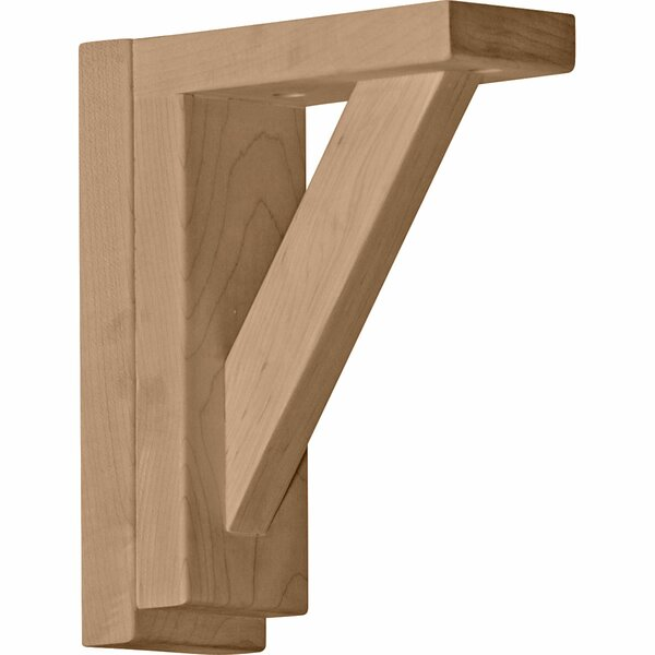 Traditional 7 1/2H x 2 1/2W x 6 1/4D Shelf Bracket in Cherry by Ekena Millwork