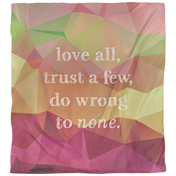 Quotes Faux Gemstone Do No Wrong Single Reversible Duvet Cover