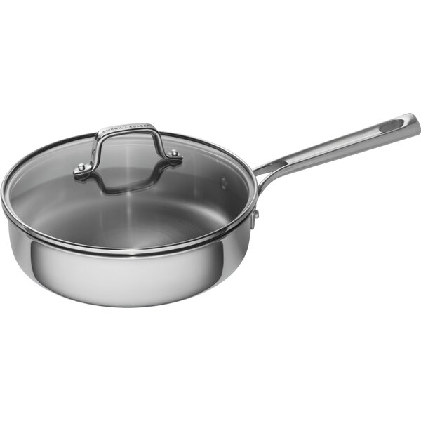 3 qt. Tri-Ply Stainless Steel Covered Deep Saute Pan with Lid by Emeril Lagasse