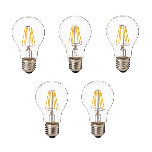 8W E26/Medium Standard LED Vintage Filament Light Bulb (Set of 5) by Artiva USA