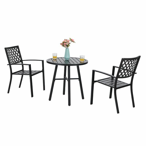 Stines Outdoor 3 Piece Bistro Set by Charlton Home