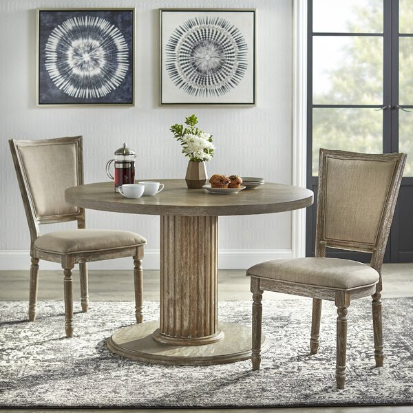 Wilsonville 3 Piece Solid Wood Dining Set by Ophelia & Co. Ophelia & Co.